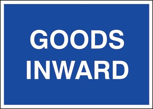 Public Information Signs – Goods Inwards