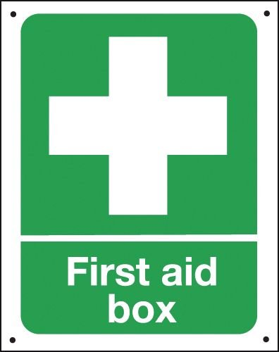 First Aid Box - Vandal-Resistant Sign