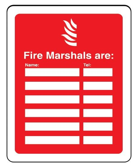 Fire Marshals Are Vandal-Resistant Sign