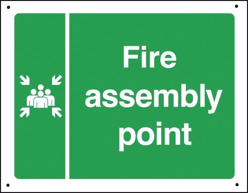 Fire Assembly Point Assembly Vandal-Resistant Signs