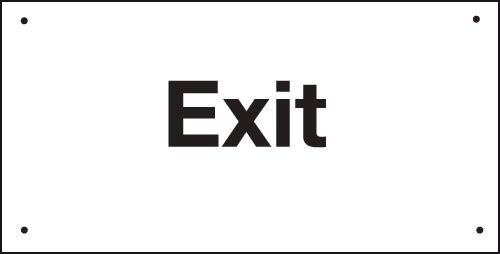 Exit - Vandal Resistant Sign