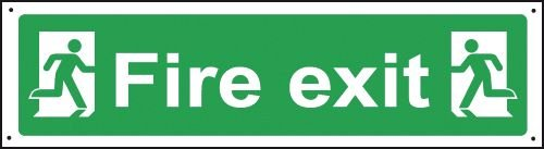 Fire Exit Man/Left Right Only Vandal-Resistant Sign