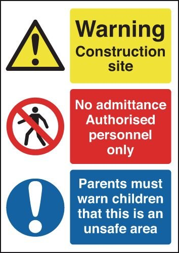 Construction Site/Authorised Personnel Signs