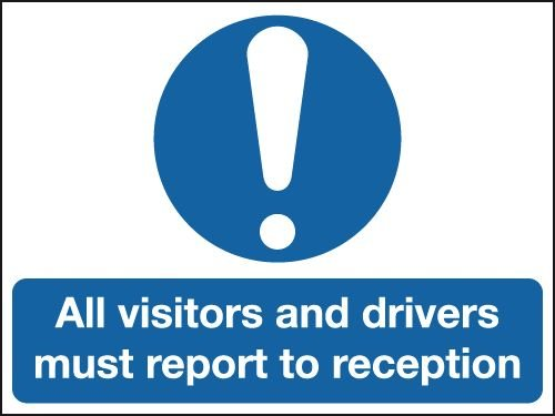 Aluminium Sign - All Visitors & Drivers