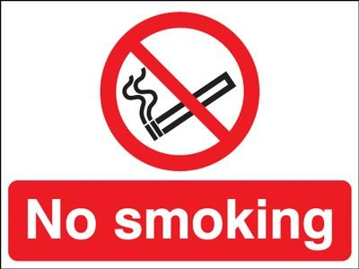 No Smoking Double-Sided Hanging Sign