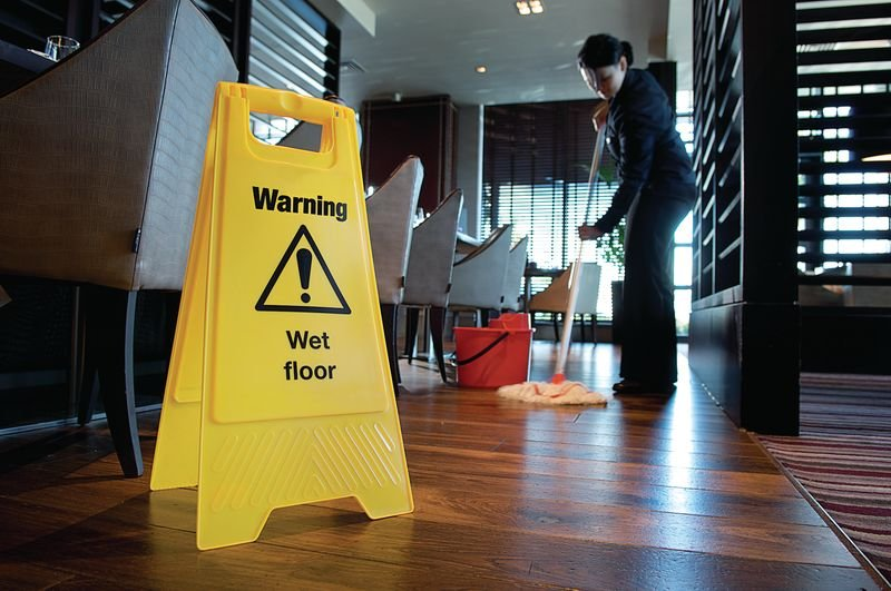 Economy Floor Stands - Caution Wet Floor - Seton