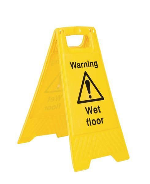 5-Pack Caution Wet Floor Economy Floor Stands