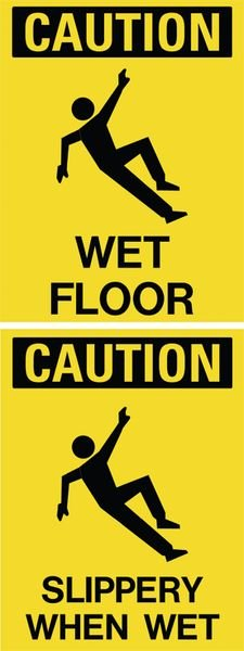 Wet Floor / Slippery When Wet Dual Message Floor Stand
