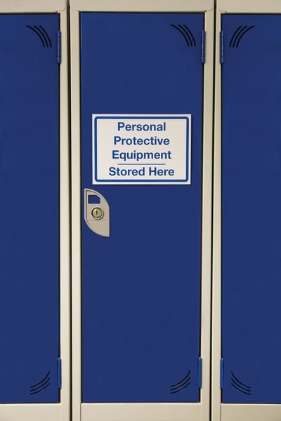 PPE Stored Here Customisable Sign With Decal Sheet - Seton