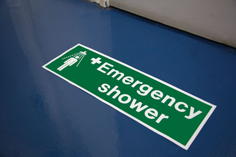 First Aid Floor Markers - Emergency Shower - Seton
