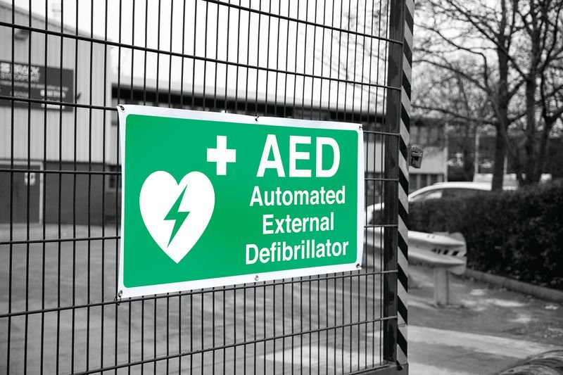 Banner Signs - AED Automated External Defibrillator - Seton