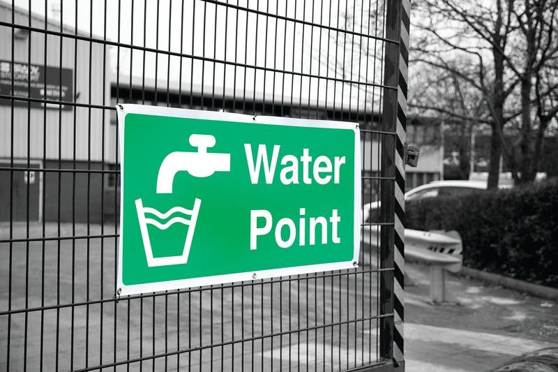 Banner Signs - Water Point - Construction Site First Aid Signs
