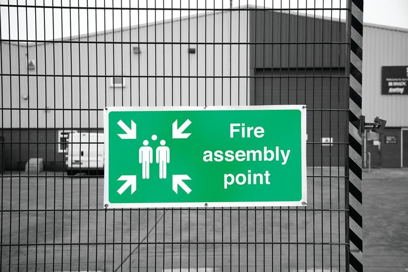 Banner Signs - Fire Assembly Point - Seton