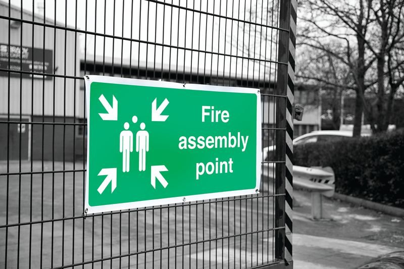 Banner Signs - Fire Assembly Point - Fire Assembly Point Signs