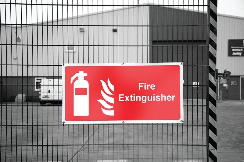 Banner Safety Signs - Fire Extinguisher - Seton