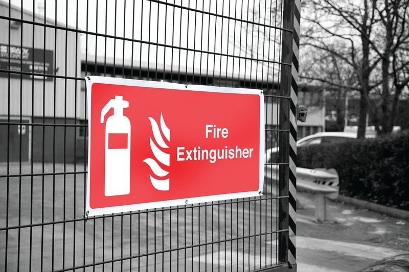 Banner Safety Signs - Fire Extinguisher - Fire Safety Signs