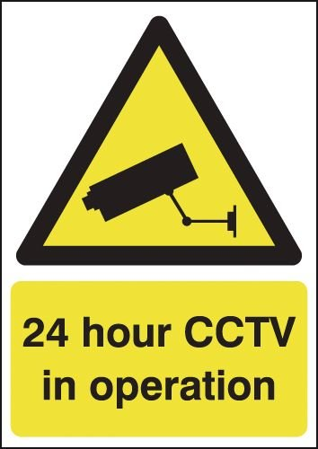 24 Hour CCTV in Operation Window Signs