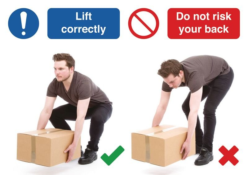 Lift Correctly Do & Don't Visual Signs