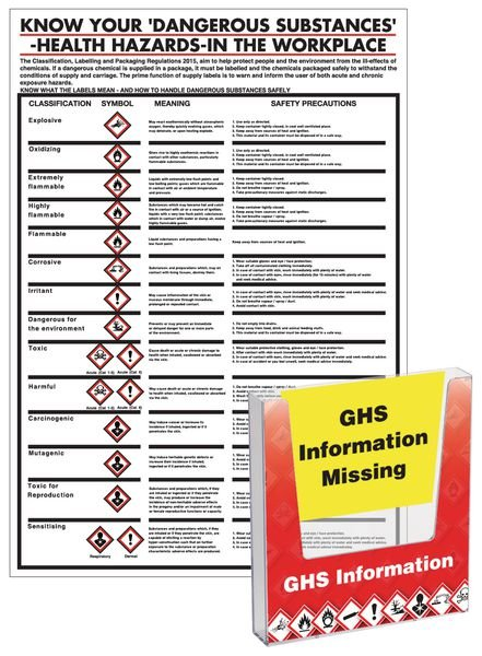 GHS Safety Document Holder