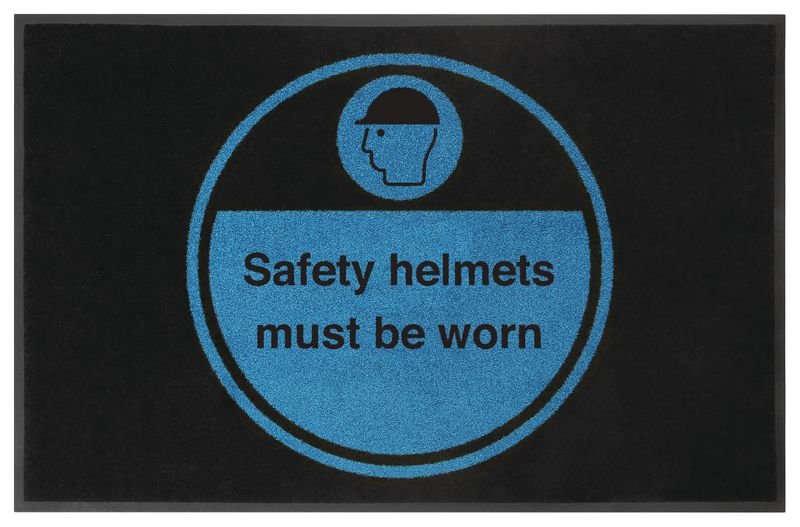Safety Helmets Must Be Worn Highly Visible Mats