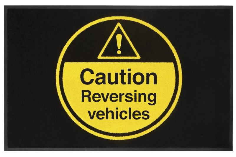 Caution Reversing Vehicles Highly Visible Mats