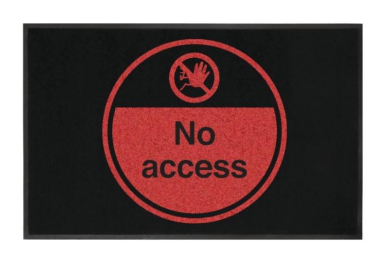 No Access Highly Visible Mats