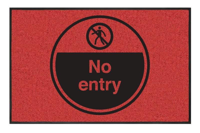 No Entry Highly Visible Mats