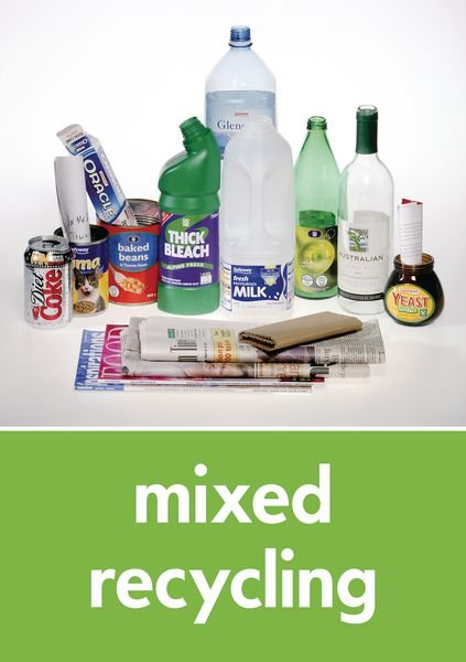 Mixed Recycling - WRAP Recycling Pictorial Signs