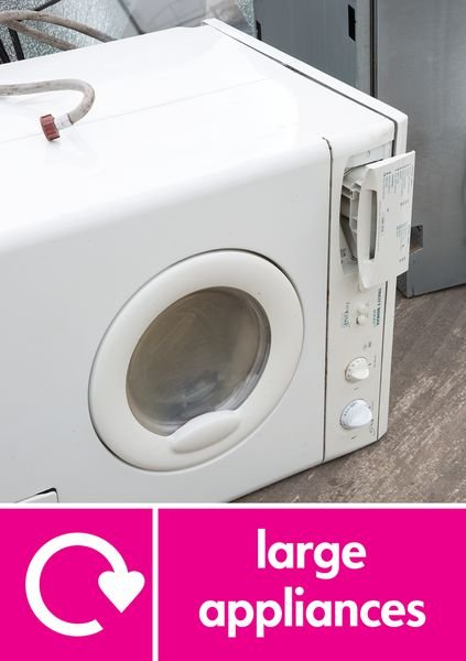 Large Appliances (WRAP Symbol) WRAP Recycling Pictorial Signs