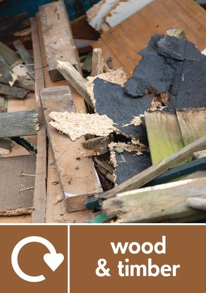 Wood & Timber - WRAP Recycling Pictorial Signs