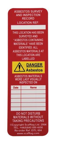 Scafftag® Asbestos Tags - Asbestos Identified - Seton