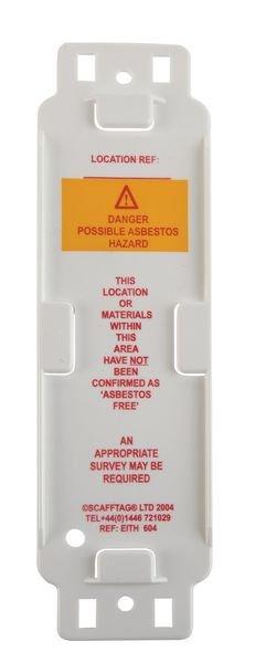 Scafftag® Asbestos Tags - Asbestos Identified - Scafftag Kits
