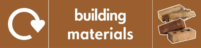 Building Materials - WRAP Photographic Recycling Signs
