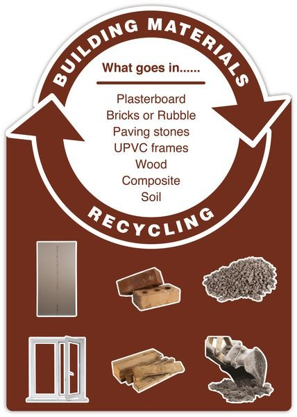 Building Materials - WRAP Cut-out Photographic Recycling Signs