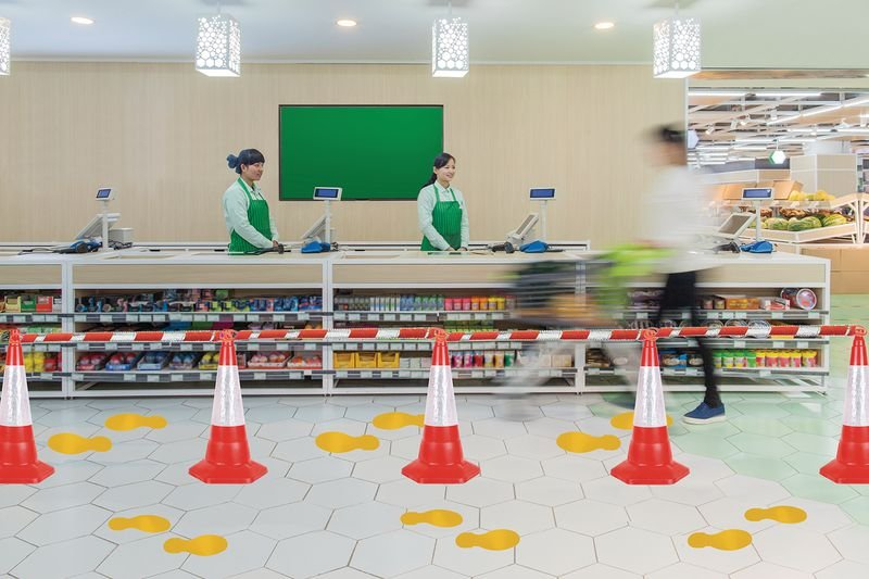 Social Distancing - Cone Barrier & Floor Marking Kit - Seton