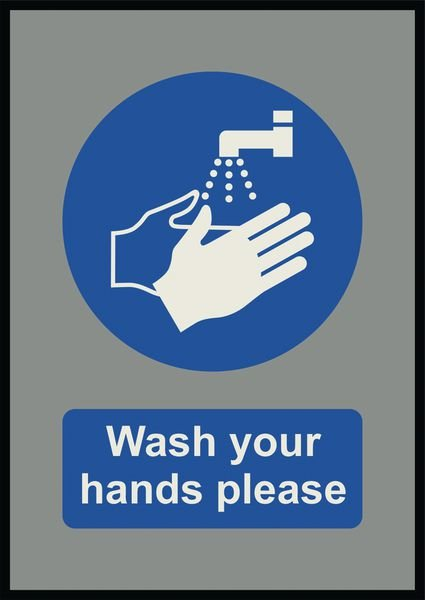 Wash Your Hands Please - Floor Mat - Seton