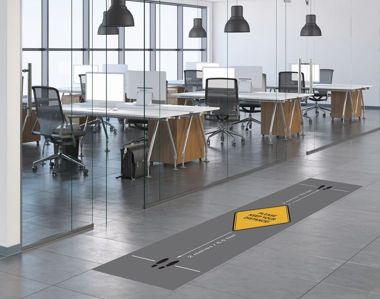 Social Distancing Floor Mat