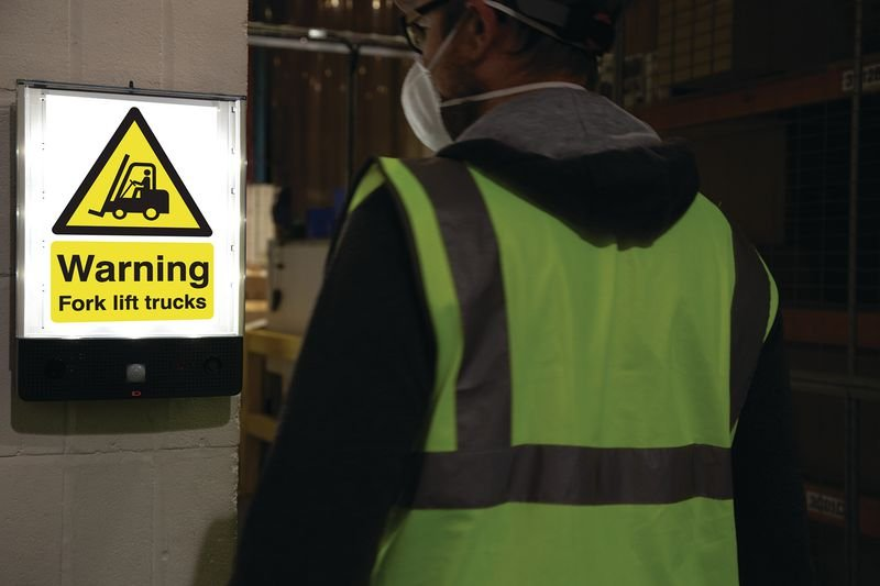 Seton Talking Safety Sign Alerter - Forklift Truck Sign - Seton