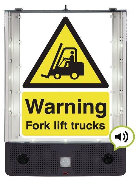 Seton Talking Safety Sign Alerter - Forklift Truck Sign