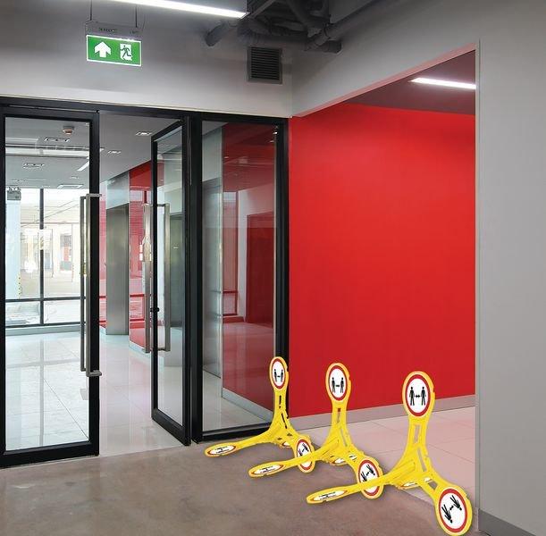 Seton 360 Social Distancing Floor Stand