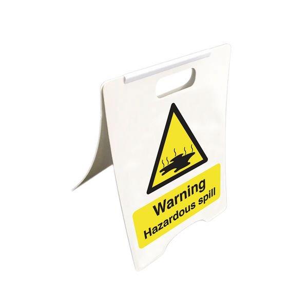 Warning Hazardous Spill - Temporary Floor Sign