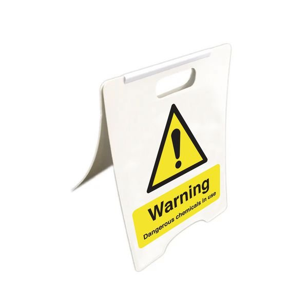 Dangerous Chemicals In Use - Temporary Floor Sign