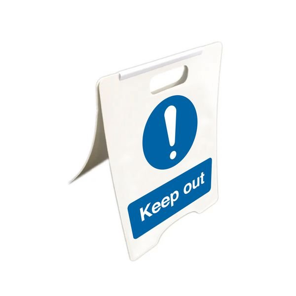 Keep Out - Temporary Floor Sign