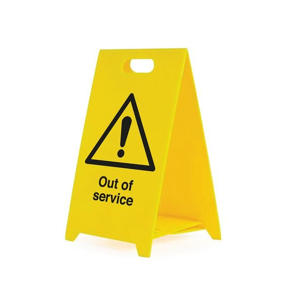 Out Of Service - Safety Warning 'A' Board