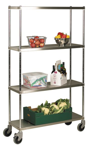 Stainless Steel Shelving/Solid Shelves Initial Bays