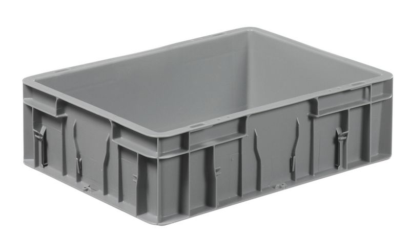Solid Stackable Plastic Containers with Label Holders