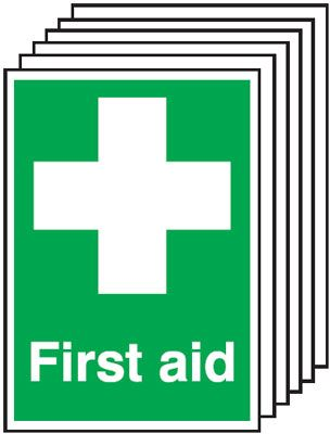 6-Pack First Aid Signs