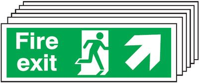 6-Pack Running Man/Right Diagonal Up Arrow Signs