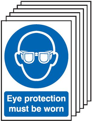 6-Pack Eye Protection Must Be Worn Signs