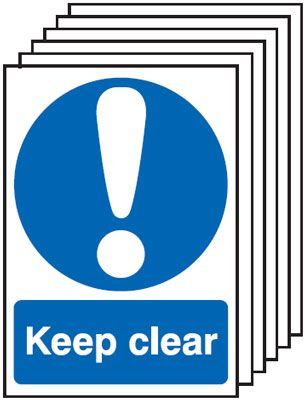 6-Pack Keep Clear Signs